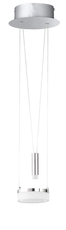 WOFI Pendelleuchte, Aluminium^Acryl, Integriert, 8.5 W, H  150 cm x B x L  18 cm