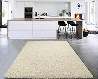 "Sweet Home Stores COZY2762-8X10 Cozy shag Rugs, 7'10"" x 9'10"", Cream (B00W6818E6) 