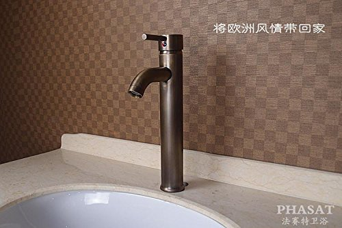 Furesnts Modern home kitchen and Bathroom Sink Taps Antique fittings continental antique all bronze Basin bench Basin hot and cold Mixer Bathroom Sink Taps,(Standard G 1/2 universal hose ports)