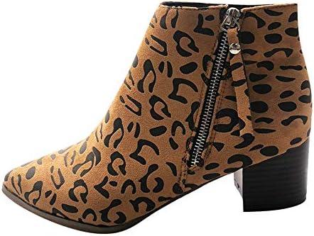 [해외]Aniywn Womens Ankle Boots Ladies Casual Pointed Toe Side Zipper Chunky Heel Short Booties Vintage Shoes Yellow / Aniywn Womens Ankle Boots Ladies Casual Pointed Toe Side Zipper Chunky Heel Short Booties Vintage Shoes Yellow