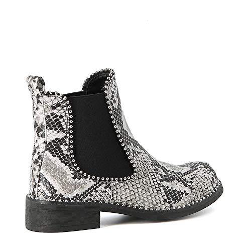 Misstic Bottines Python Chelsea Blanc Bottines Misstic 76adwqT4
