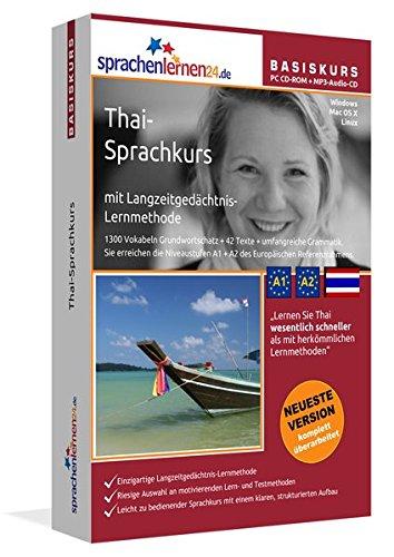 Thai-Basiskurs mit Langzeitgedächtnis-Lernmethode von Sprachenlernen24: Lernstufen A1+A2. Thai lernen für Anfänger. PC CD-ROM