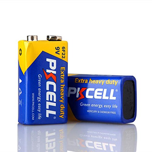 6f22 Super Heavy Duty Batteries - 9V 6F22 Mn1604 Batteries Super Heavy Duty Carbon-Zinc Battery (2Pcs)