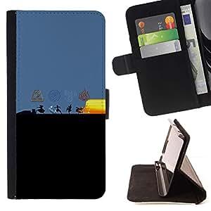 Momo Phone Case / Flip Funda de Cuero Case Cover - Dobladora de aire Elementos;;;;;;;; - Sony Xperia Z5 Compact Z5 Mini (Not for Normal Z5)