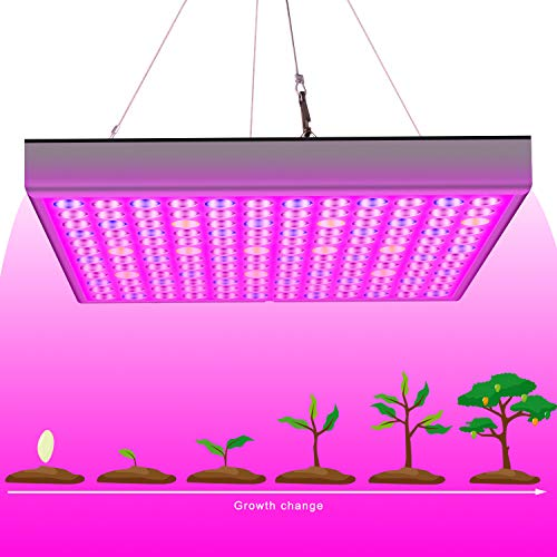 45W LED Grow Light for Indoor Plants Growing Lamp, UV IR Red Blue Full Spectrum Plant Lights Bulb Panel for Hydroponics Greenhouse Seedling Veg and Flower