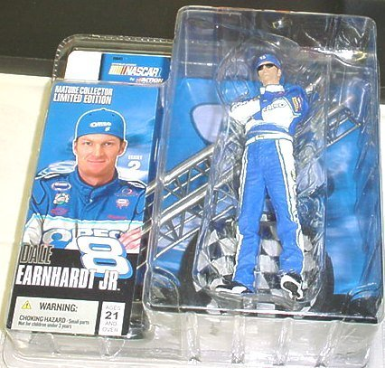 Dale Earnhardt Jr # 8 Mature Collector Limited Edition Blue Oreo Chase Alternate Variant McFarlane Nascar Series with Sunglasses by McFarlane q1KrGjjUj