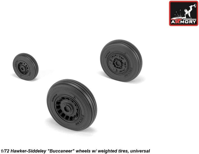 ARMORY ARAW72411 1//72 Hawker Siddeley Buccaneer S.2 wheels with weighted tires