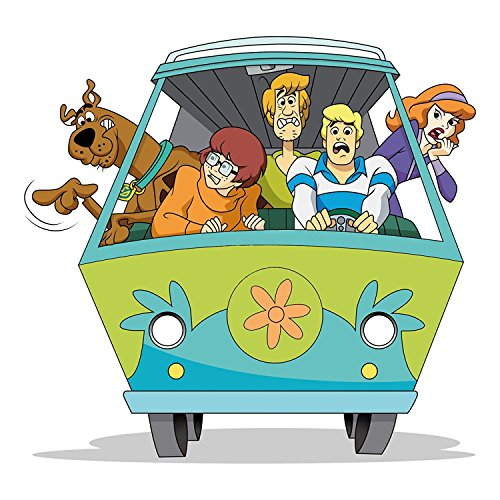 Chicbanners Scooby Doo Mystery Machine 3D V2 Magic Window Wall Sticker Self Adhesive Poster Wall Art size 750mm wide x 750mm deep (large) - Scooby Doo Mystery Machine Sticker