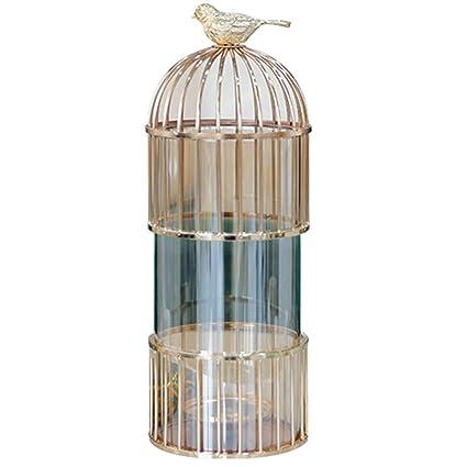 Hh001 Florero de Vidrio florero Creativo hogar Jaula de pájaros ...