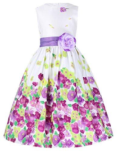 Grace Karin Lavender Flower Sundress