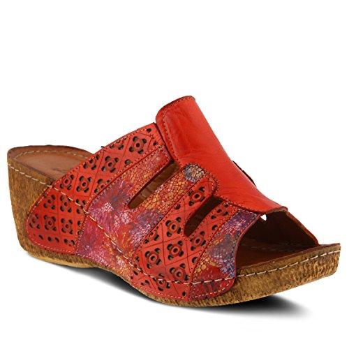 Primavera Donne Step Stile Scorrevole In Pelle Onaona Sandalo Rosso