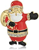 Napier gold-tone and multi santa clause brooch and pin