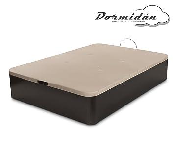 Dormidán - Canapé abatible de Gran Capacidad con Esquinas Redondeadas en Madera, Base tapizada 3D Transpirable + 4 válvulas aireación 150x190cm Color ...