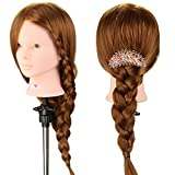 Neverland Beauty 24' 50% Real Human Hair Hairdressing Cosmetology Mannequin Manikin Training Training Head With Clamp Stand