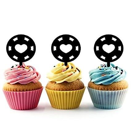 Innovedesire Casino Coin Cupcake Cake Topper para tartas ...