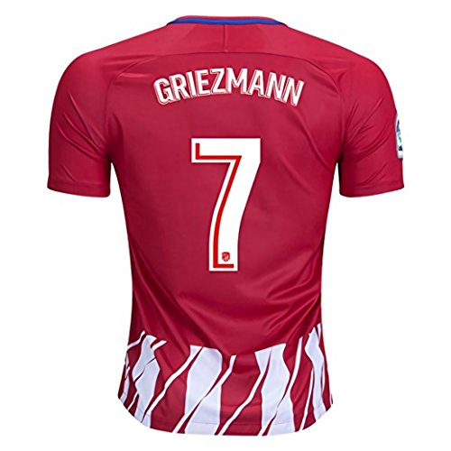 fan products of Griezmann #7 Atletico Madrid Home 17/18 Soccer Jersey Men's Color Red Size L