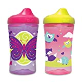 Gerber Graduates Advance Developmental Hard Spout Sippy Cup in Girl Colors, 10-Ounce, 2-Pack