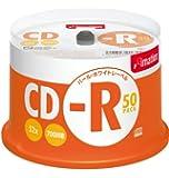 imation CD-R 700MB 52X パールホワイトディスク(CASIO・DISCタイトルプリンター&DiscBiz対応) 50枚スピンドル CDR80BWBX50SL