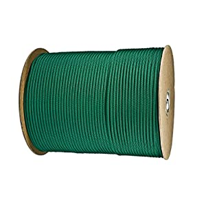 Paracord Planet Nylon 7 Type III Strand Inner Core Paracord - 250 Feet, Kelly Green