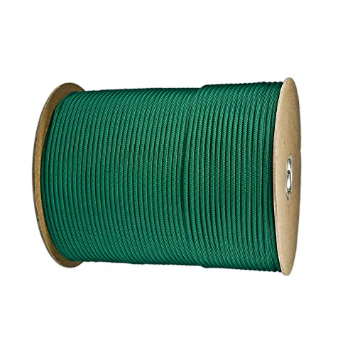 Paracord Planet Nylon 7 Type III Strand Inner Core Paracord - 1000 Feet, Kelly Green