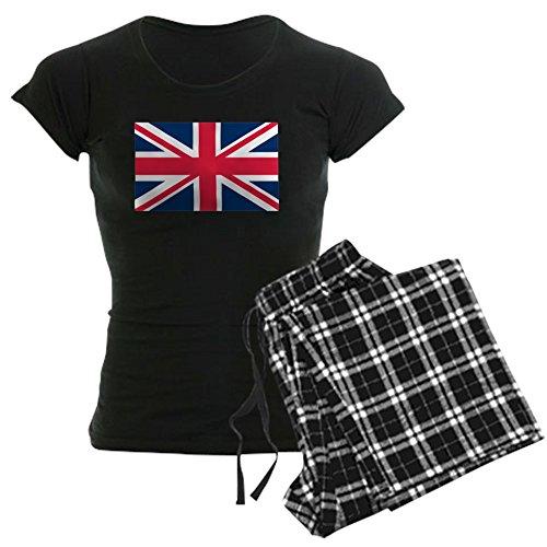 CafePress British Flag Womens Novelty Cotton Pajama Set, Comfortable PJ Sleepwear (British Pajamas)