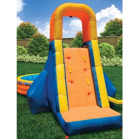 Swimming Pools & Waterslides for Kids, 21'5'L x 12'W x 9'6'H, Banzai The Plunge Water Slide