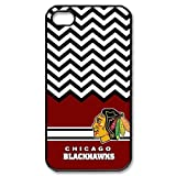 Charming Simple NHL Chicago Blackhawk Apple Iphone 4S/4 Case Cover Chevron Vintage Retro by mcsharks