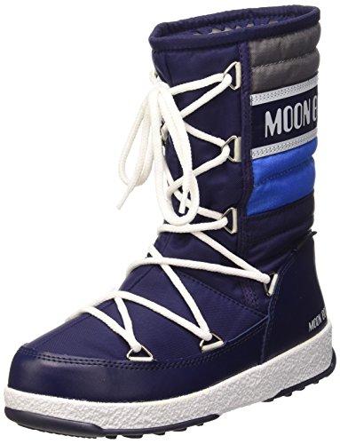 Argent Moon D'Hiver Quilt Bottes Boot W E Royal Navy H1wqvzH6