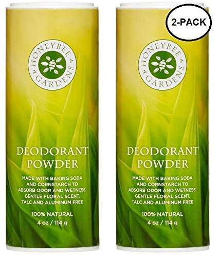 Honeybee Gardens 100% All Natural Deodorant Powder, 2 Pack | Talc Free, Gluten Free, Vegan, Non GMO ()
