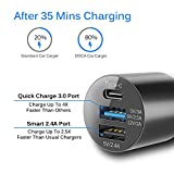 Car Charger, DOCA 39W 5.4A Metal Car Charger