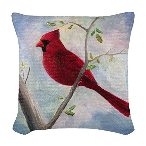 CafePress - Cardinal - Woven Throw Pillow, Decorative Accent Pillow