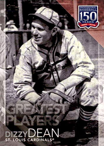 2019 Topps 150 Years of Baseball Greatest Players #GP-25 Dizzy Dean St. Louis Cardinals MLB Baseball Trading Card (St Louis Cardinals Best Players 2019)