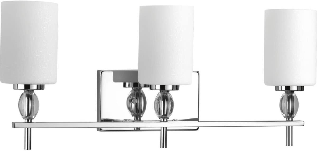 Progress Lighting P2776-15 Contemporary Modern Three Light Bath from Status Collection Finish, Polished Chrome