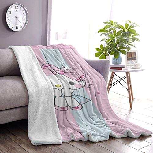 huashan Couverture Polaire - Hello Kitty, Taille de Jet, Couverture de lit de Luxe légère et Confortable 60 'X50'