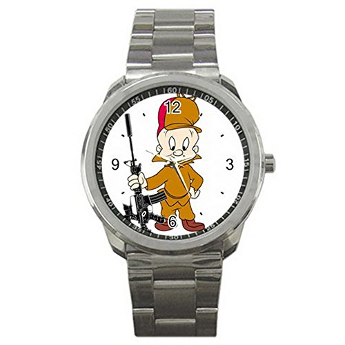 elmer-fudd-looney-tune-logo-sport-metal-watch-special-edition