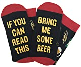 ''If You Can Read This Bring Me Some Beer'' Novelty Socks - Funny Gag Gift Idea for Beer Lovers, Birthday and Graduation Presents
