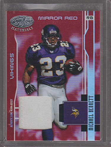 2003 Leaf Certified Red Michael Bennett Ravens 14/150 Game Used Jersey Football Card #74 ()