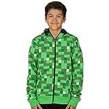 Minecraft Creeper Premium Zip-Up Youth Hoodie - Green - Medium