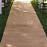 Burlap Aisle Runner Beach Garden Wedding, 36-Inch x 100ft (Natural)