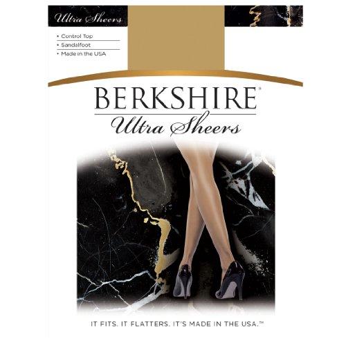 Bare Pantyhose - Berkshire Women's Ultra Sheer Control Top Pantyhose 4415, Fantasy Black, 4