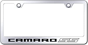 Au-Tomotive Gold, INC. Chevy Camaro SS License Plate Frame Stainless Steel Laser Etched Metal