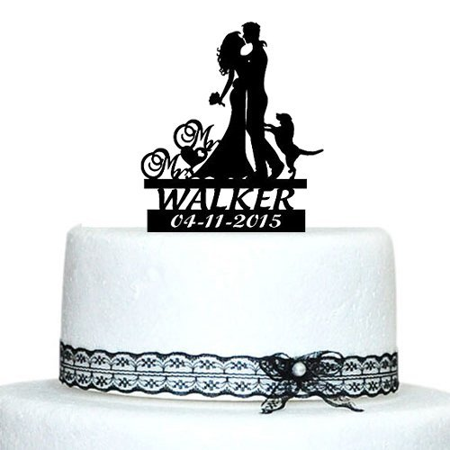 Buythrow Wedding Toppers Silhouette Custom product image