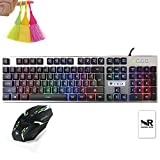 Normia Rita 19 non-conflict Suspend A Key Hat Keys Gaming Keyboard, Machine Hand, Game Equipment, Waterproof Dust Palliative, Aluminum Plank in the Space - Black
