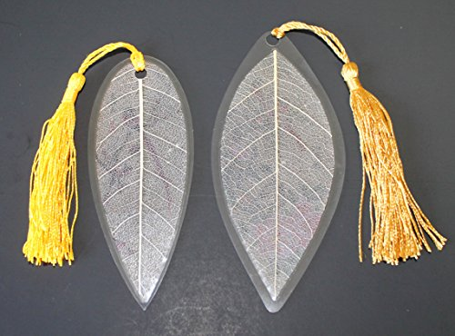Lucore Red Birds Pair Leaf Bookmarks -Made of Real Leaves - 2 Pcs Lucky Charm, Ornament, Hanging & Wall Decor, Art Decoration Photo #5