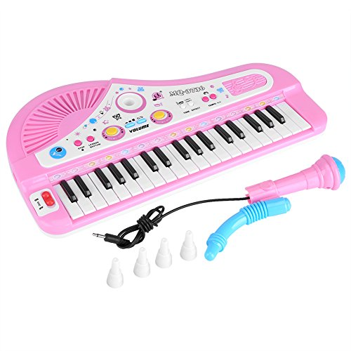 Fdit Kid Electronic Keyboard Piano with Microphone 37 Keys Educational Instrument Toy Baby Gift