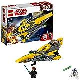 Toys : LEGO Star Wars 6212766 Anakin's Jedi Starfighter Building Kit, Multicolor