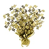 Beistle Gold 50 Gleam 'N Burst Centerpiece, 15-Inch, Gold