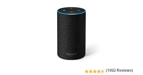 Amazon Echo (2.ª generación) - Altavoz inteligente con Alexa, tela de color antracita