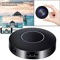 Rumfo Q1 WIFI Display Dongle, WiFi Wireless HDMI 1080P Digital TV Miracast DLNA Airplay Converter Adapter Mini Display Receiver with AV Output and Marquee Light for IOS/Android/Windows/Mac