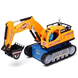 Wenjuan LED Electric Construction Vehicle Control Excavator Truck Toy Car With LED Light Avoid...